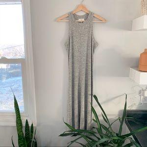 lou & grey | blouson high neck sleeveless dress